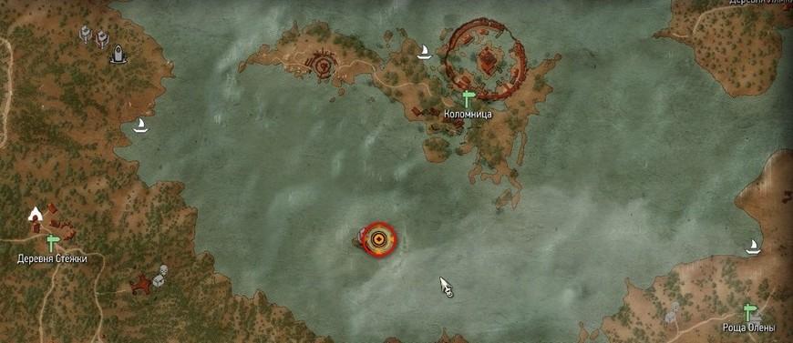 Остров Коломница в Ведьмак 3: где на карте, башня, история, квесты