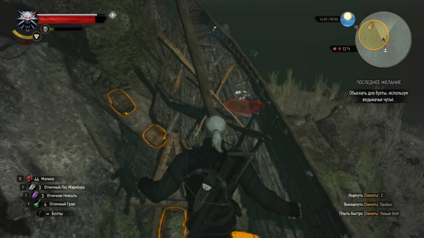 """Ведьмак 3: Квест """"Последнее желание"""" - прохождение, обыскать корабль, последствия"""