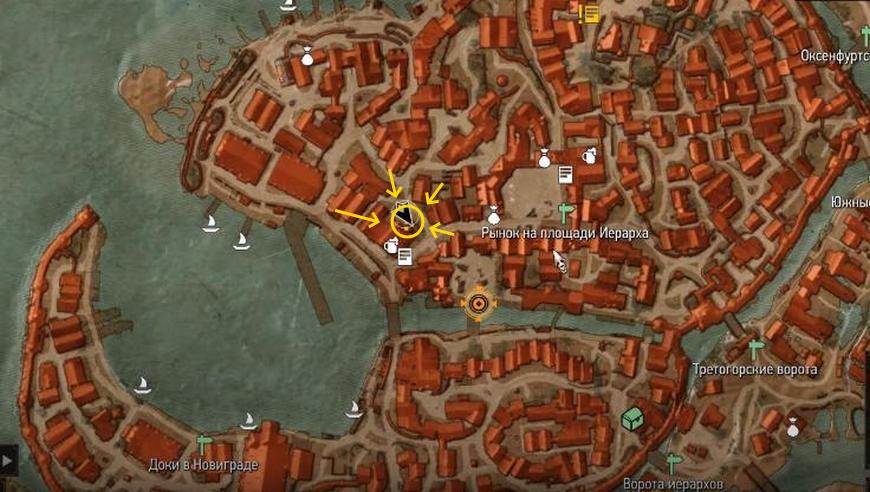 """Ведьмак 3: Квест """"Черная жемчужина"""" - прохождение задания, где на карте"""