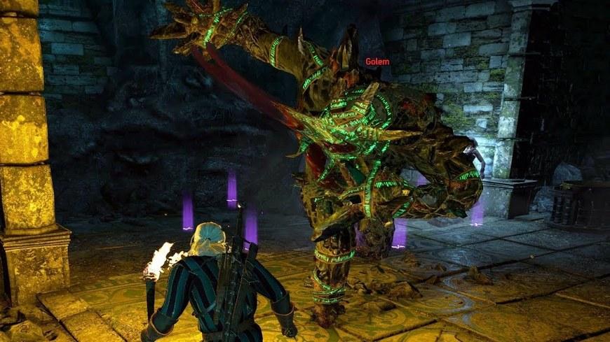 Как быстро убить голема в Ведьмаке 3: бестиарий, тактика боя