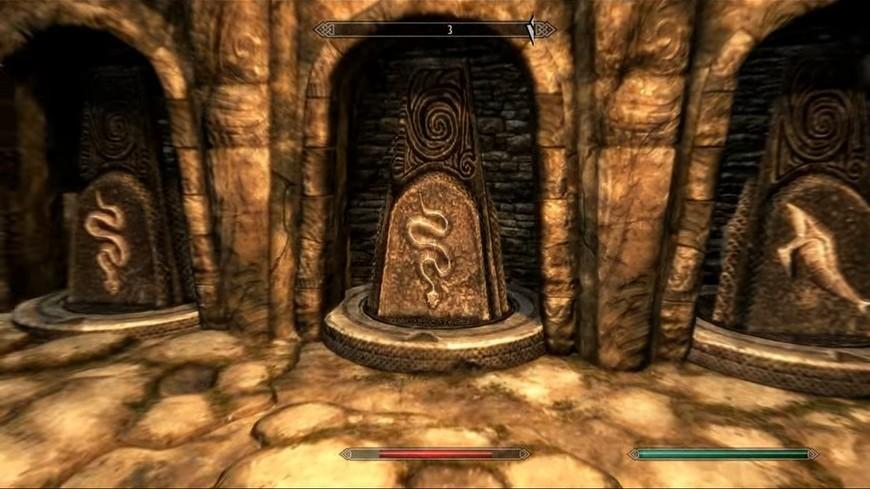 Комбинация с золотым когтем и камнями чтобы открыть двери в Ветряном пике