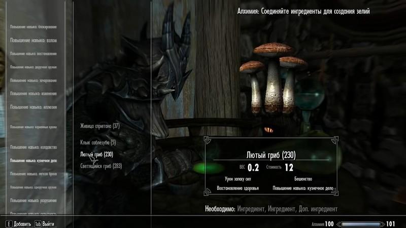 Все зелья кузнеца в Skyrim: рецепты, ингредиенты, коды ID