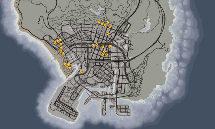 Проститутки в ГТА 5: карта мест обитания