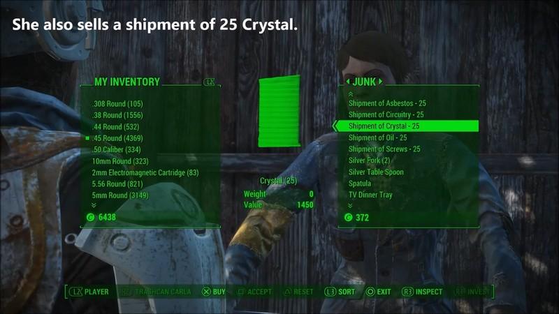Где в Фоллаут 4 найти кристаллы: торговцы, локации для фарма и коды ID