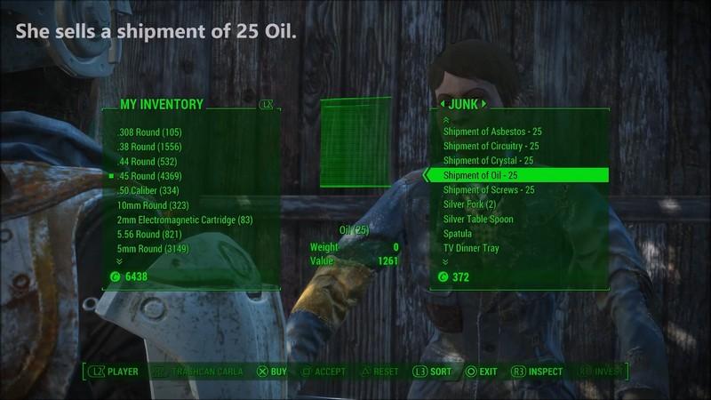 Фоллаут 4 масло: где найти и как получить по коду ID