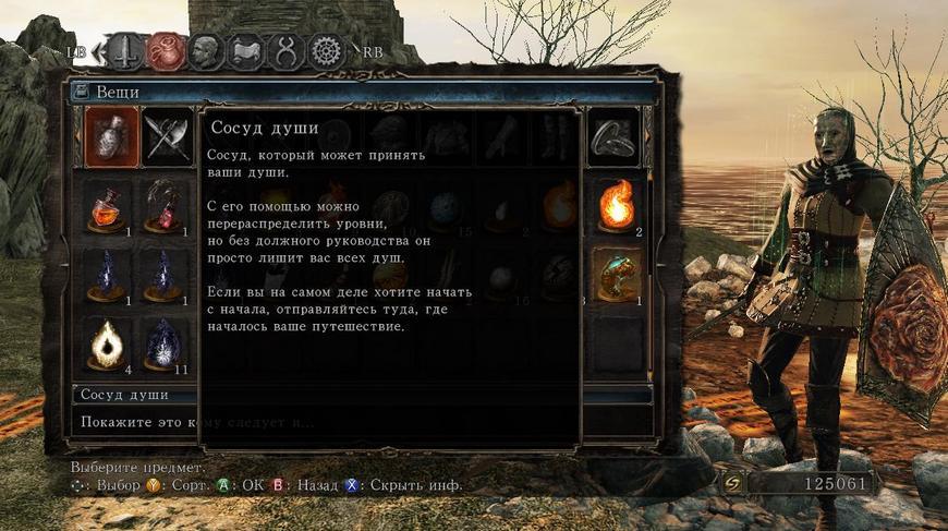 Описание сосуда душ Dark Souls 2