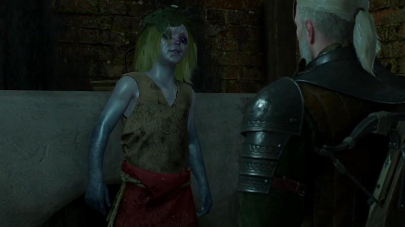 """Маленький прибожек Сара в Ведьмаке 3: оставить ли её в """"проклятом"""" доме банкира в Новиграде"""