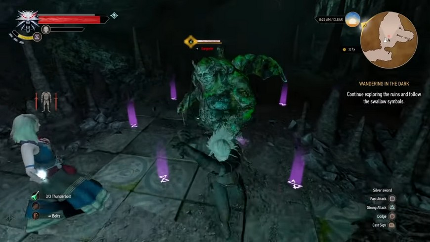 Ведьмак 3: Гаргулья - как лучше убивать (победить), бестиарий