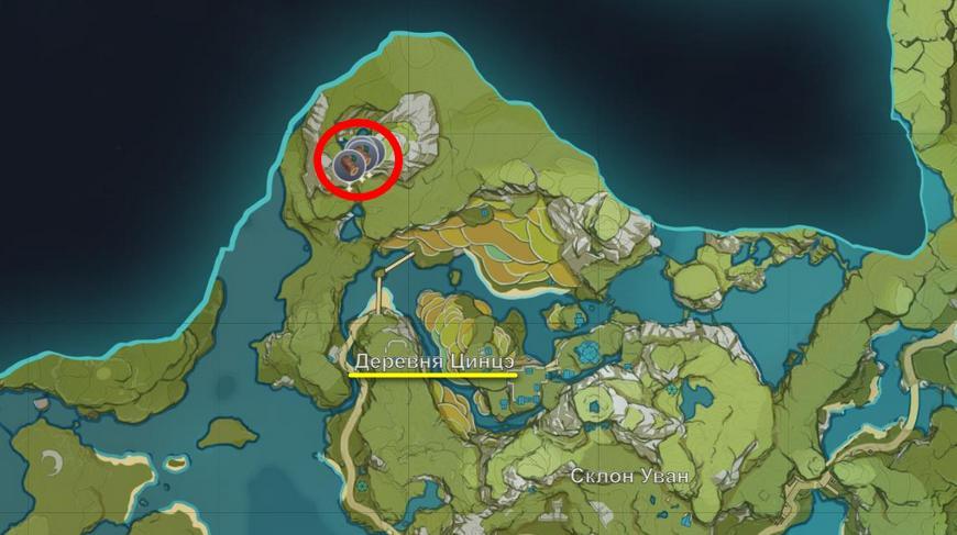 Где найти сосну в Геншин импакт (Genshin impact) на карте