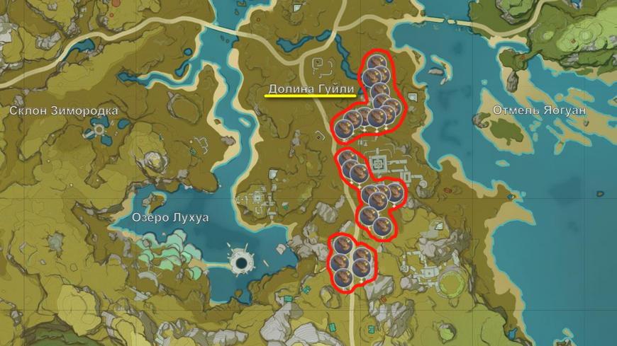Где найти песчаное дерево в Genshin impact (список всех мест)
